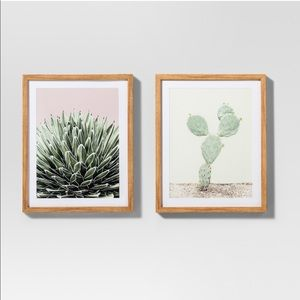 Framed Cactus Wall Print 2 Pack